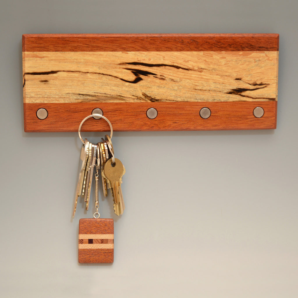 "Spalted Maple & Mahogany ""Lucas"" (KR454) Series Key Chain Holder"