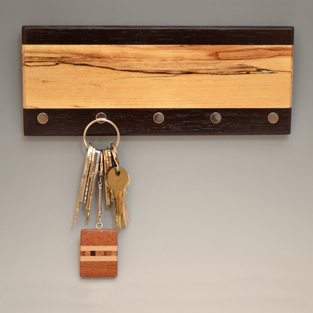 "Spalted Maple & Wenge ""Lucas"" (KR454) Series Key Chain Holder"