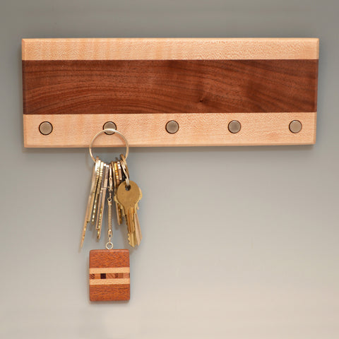 "Black Walnut & Hard Maple ""Lucas"" (KR454) Series Key Chain Holder"