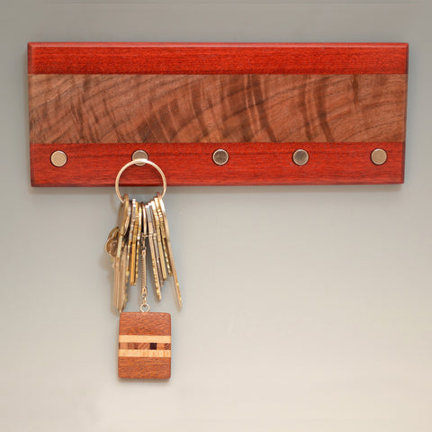 "Black Walnut & Bloodwood ""Lucas"" (KR454) Series Key Chain Holder"