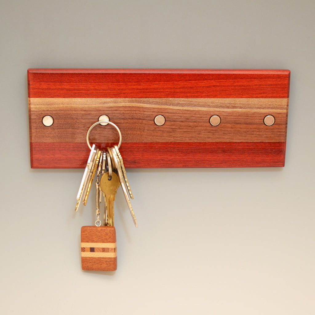 "Bloodwood & Black Walnut ""Maria"" (KR456) Series Key Chain Holder"