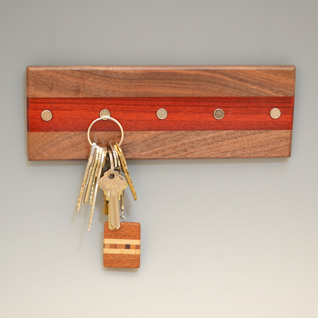 "Black Walnut & Bloodwood ""Maria"" (KR456) Series Key Chain Holder"