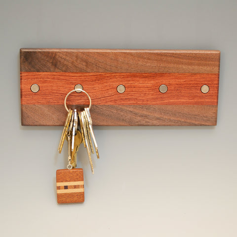 "Black Walnut & Bubinga ""Maria"" (KR456) Series Key Chain Holder"