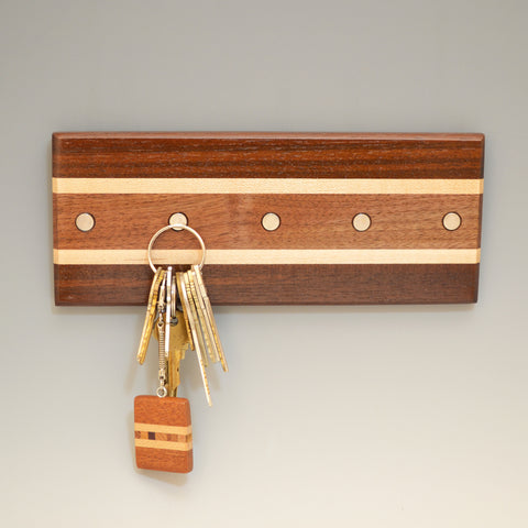 "Modified Ash & Black Walnut ""Lotte"" (KR457) Series Key Chain Holder"