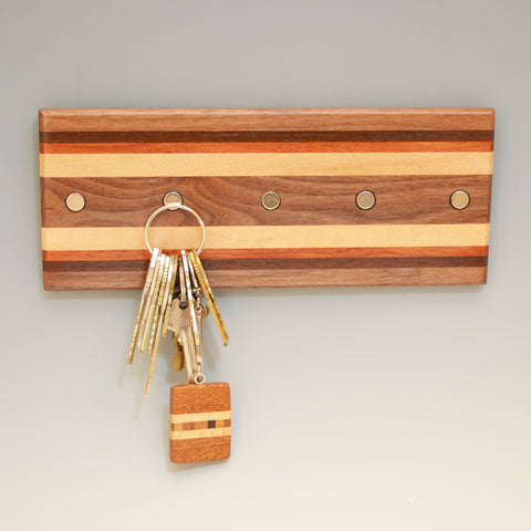 "Black Walnut ""Hans & Bodil"" (KR458) Series Key Chain Holder"