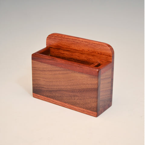 Black Walnut & Bubinga Refrigerator Caddy