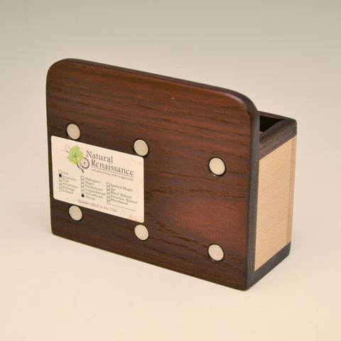 """Michael"" Wenge & Sycamore Fridge Caddy with Key Holders"