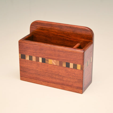 """Nichole"" Bubinga Fridge Caddy with Key Holders"