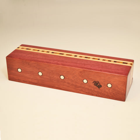 """Xander"" Purpleheart Wall Caddy"