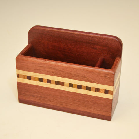 """Xander"" Purpleheart  Small Wall Caddy"