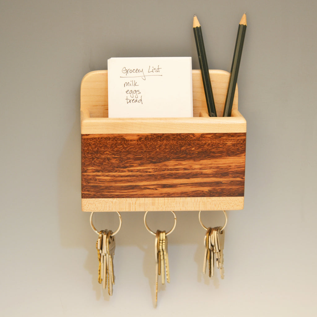 """Michael"" Maple & Tigerwood Small Wall Caddy"