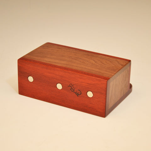 """Michael"" Bloodwood & Black Walnut Small Wall Caddy"