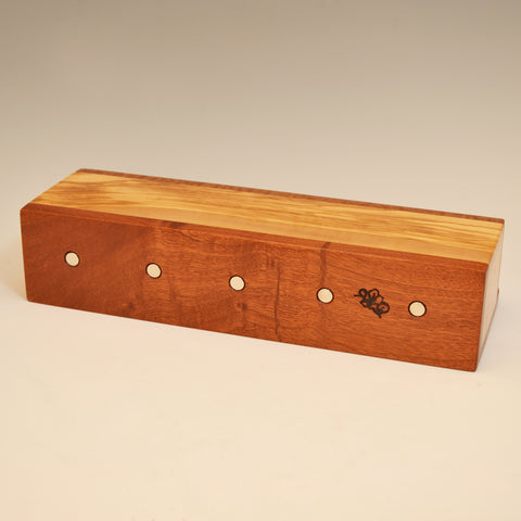 Mahogany & Olivewood Wall Caddy