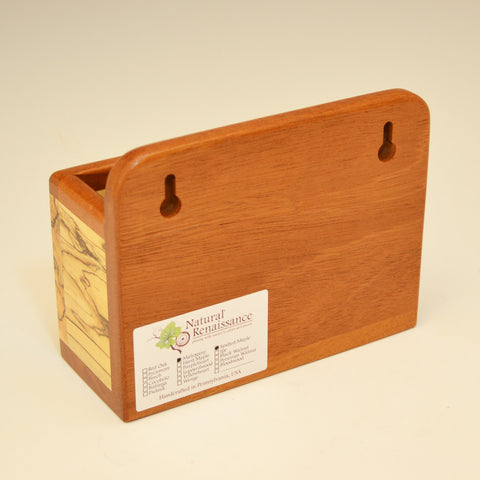 Spalted Maple & Mahogany Small Wall Caddy