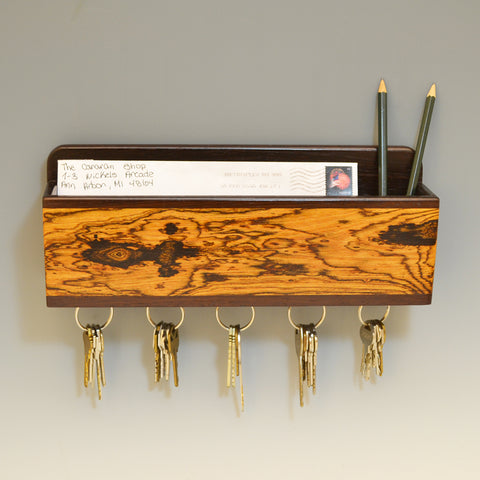Wenge & Bocote Wall Caddy