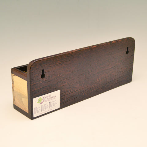 """Michael"" Wenge & Spalted Maple Wall Caddy"