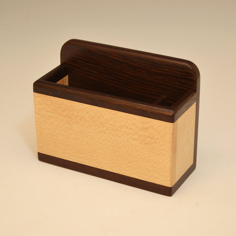 """Michael"" Wenge & Sycamore Small Wall Caddy"