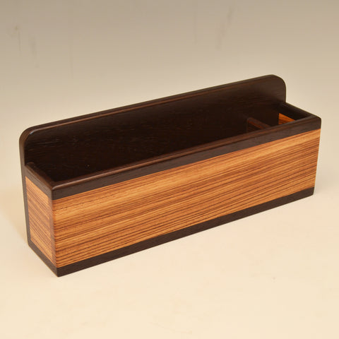 """Michael"" Wenge & Zebrawood Wall Caddy"