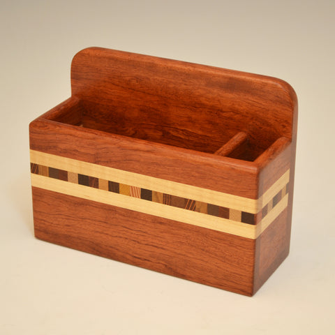 """Xander"" Bubinga Small Wall Caddy"