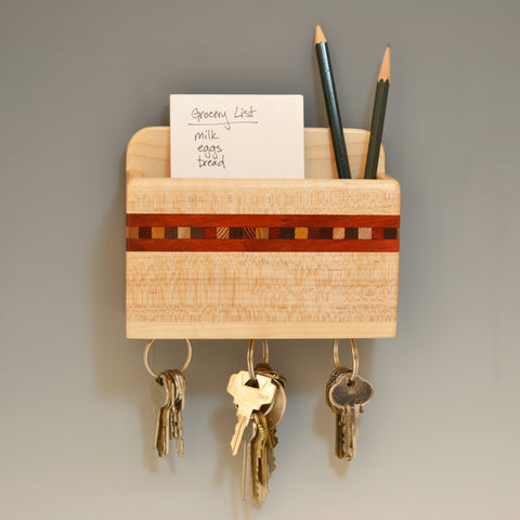 """Xander"" Maple & Paduak Small Wall Caddy"