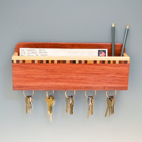 Bubinga & Maple Wall Caddy