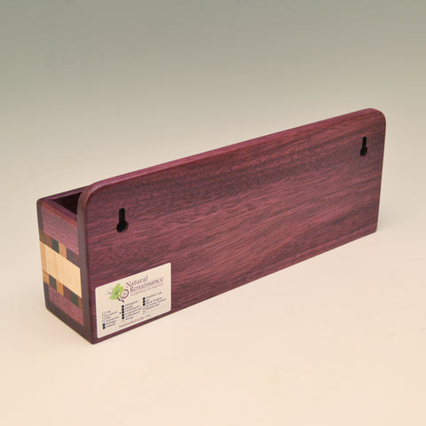 """Susan"" Purpleheart Wall Caddy"