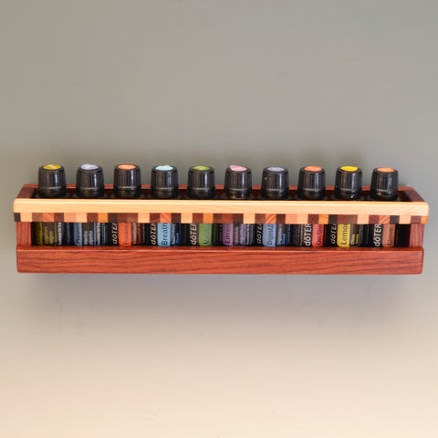 "Bubinga ""Patti"" Essential Oil Wall Caddy"