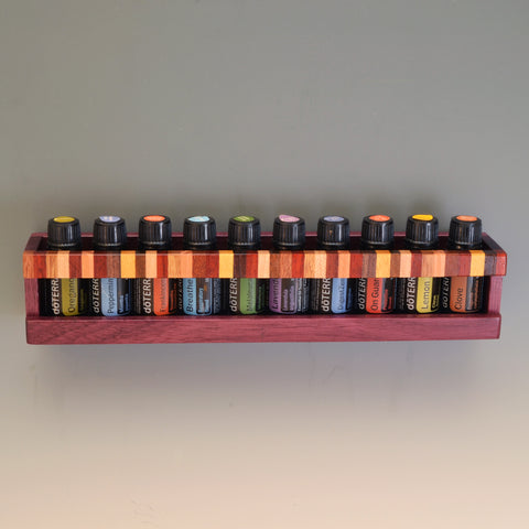 "Purpleheart ""Nichole"" Essential Oil Wall Caddy"