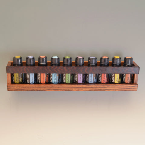 Ovangkol & Wenge Essential Oil Wall Caddy