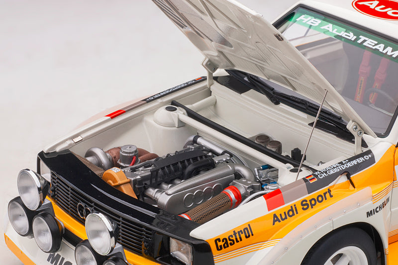 Audi Sport Quattro (1986 Monte Carlo Rally Winner) | 1:18 Scale Model Car by AUTOart | Engine