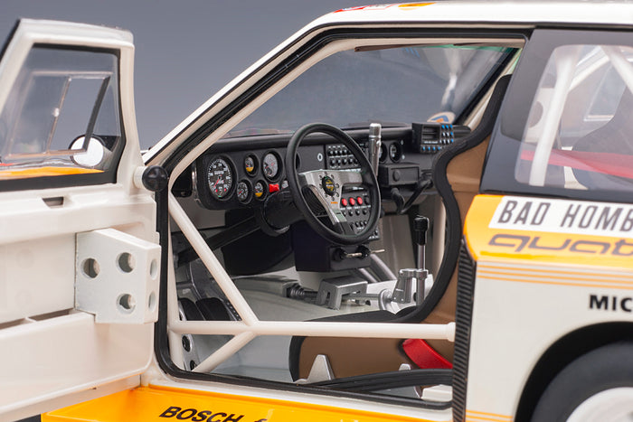 Audi Sport Quattro (1986 Monte Carlo Rally Winner) | 1:18 Scale Model Car by AUTOart | Left Interior