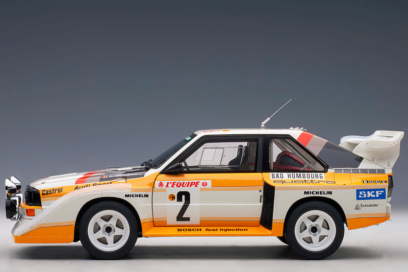 Audi Sport Quattro (1986 Monte Carlo Rally) - 1:18 Scale Model Car