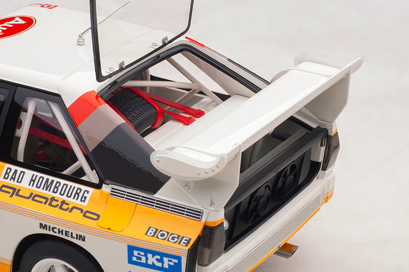 Audi Sport Quattro (1986 Monte Carlo Rally Winner) | 1:18 Scale Model Car by AUTOart | Rear Detail
