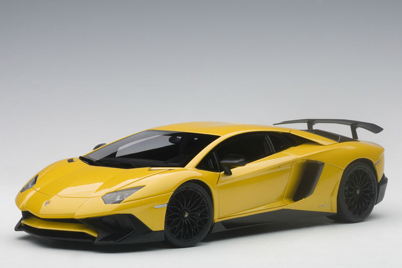 Lamborghini Aventador LP750-4 SV | 1:18 Scale Model Car by AUTOart | New Giallo Orion variant