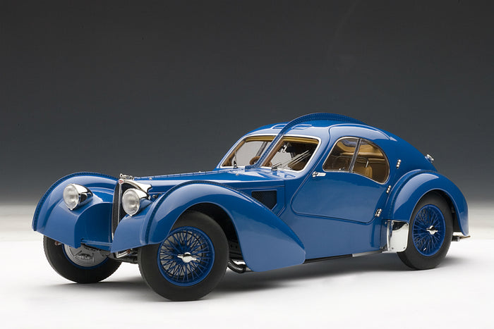Bugatti T57SC Atlantic | 1:18 Scale Diecast Model Car by AUTOart | Front Quarter