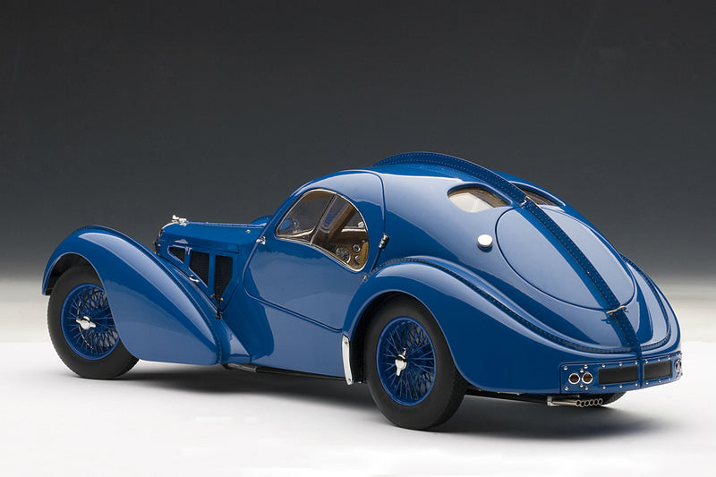 Bugatti T57SC Atlantic | 1:18 Scale Diecast Model Car by AUTOart | Rear Quarter