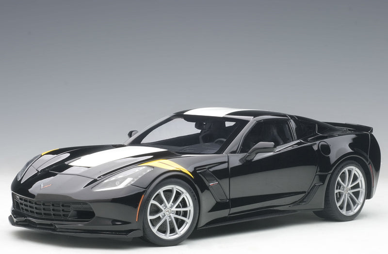 Chevrolet Corvette Grand Sport (C7) | 1:18 Scale Model Car by AUTOart | Black Variant