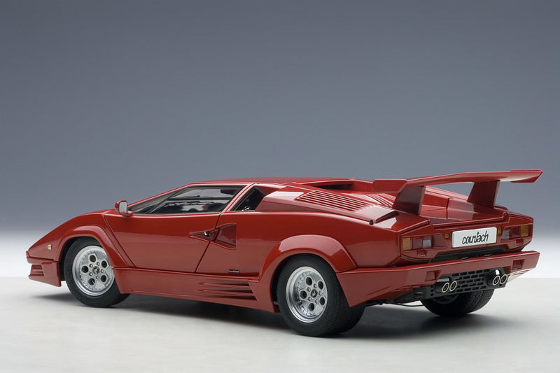Lamborghini Countach 25th Anniversary | 1:18 Scale Diecast Model Car by AUTOart | Rear Quarter