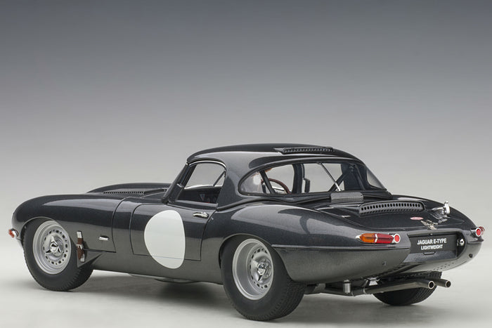 Jaguar E-Type Lightweight | 1:18 Scale Model Car by AUTOart | Rear Quarter