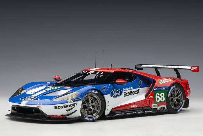 Ford GT GTE-LM (2016 Le Mans Class Winner) | 1:18 Scale Model Car by AUTOart | Front Quarter