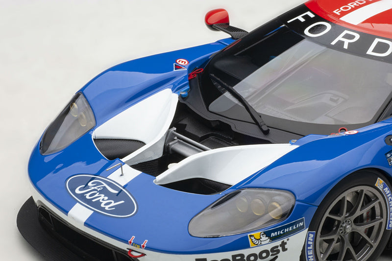 Ford GT GTE-LM (2016 Le Mans Class Winner) | 1:18 Scale Model Car by AUTOart | Front Detail
