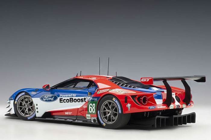 Ford GT GTE-LM (2016 Le Mans Class Winner) | 1:18 Scale Model Car by AUTOart | Rear Quarter