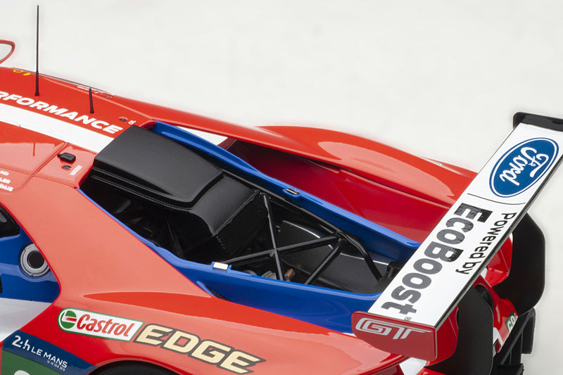 Ford GT GTE-LM (2016 Le Mans Class Winner) | 1:18 Scale Model Car by AUTOart | Rear Detail