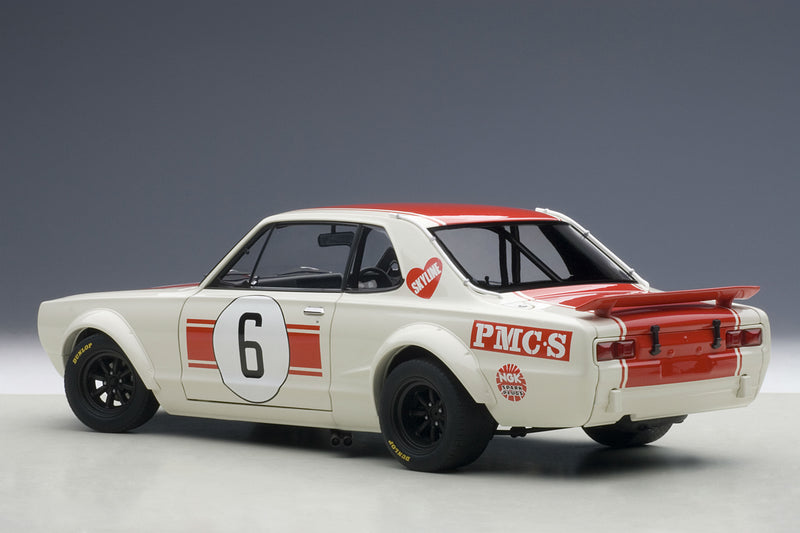 Nissan Skyline GT-R (1971 Japan GP Winner) | 1:18 Scale Diecast Model Car by AUTOart | Rear Quarter