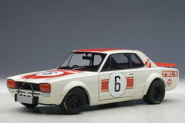 Nissan Skyline GT-R (1971 Japan GP Winner) | 1:18 Scale Diecast Model Car by AUTOart | Front Quarter
