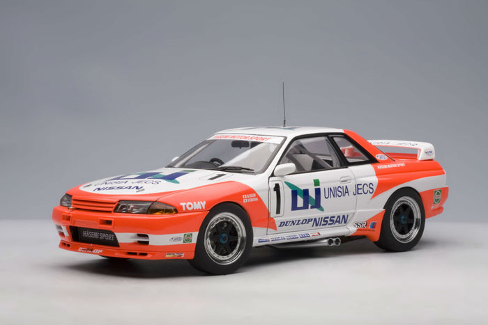 Nissan Skyline GT-R Group A (1993 Hasemi Motorsport) | 1:18 Scale Diecast Model Car by AUTOart | Front Quarter