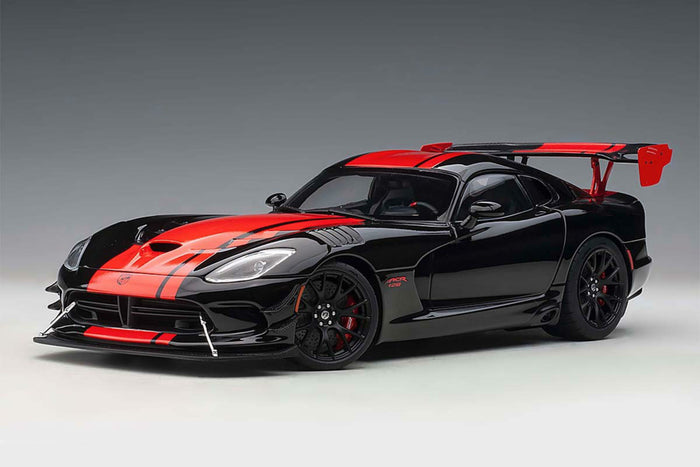 Dodge Viper GTS-R Commemorative Edition ACR (2017) | 1:18 Scale Model Car by AUTOart | Black Variant