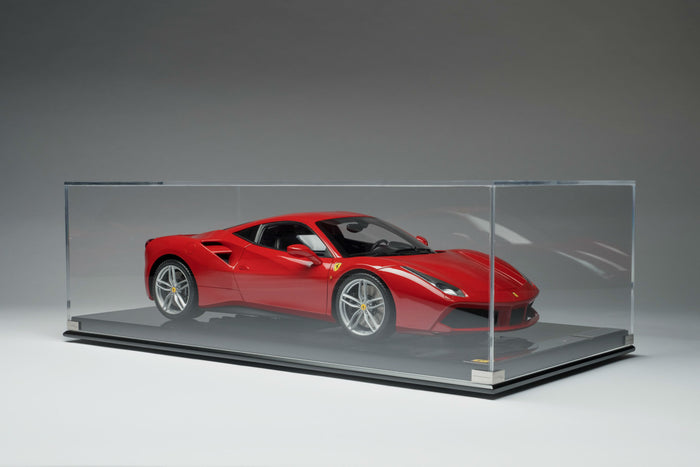Ferrari 488 GTB | 1:8 Scale Model Car by the Amalgam Collection | Display Case