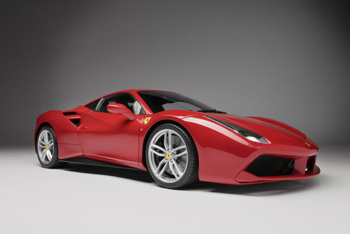 Ferrari 488 GTB | 1:8 Scale Model Car by the Amalgam Collection | Front Quarter