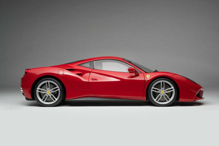 Ferrari 488 GTB | 1:8 Scale Model Car by the Amalgam Collection | Profile